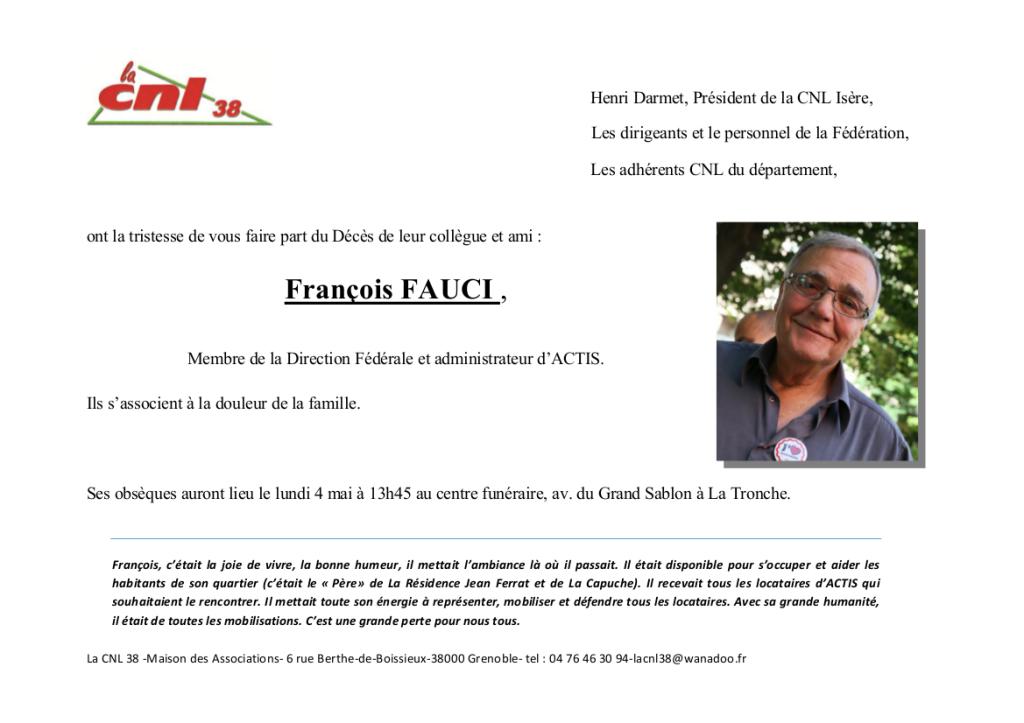 2015 04 30 fAIRE PART DECES DE FRANCOIS fAUCI