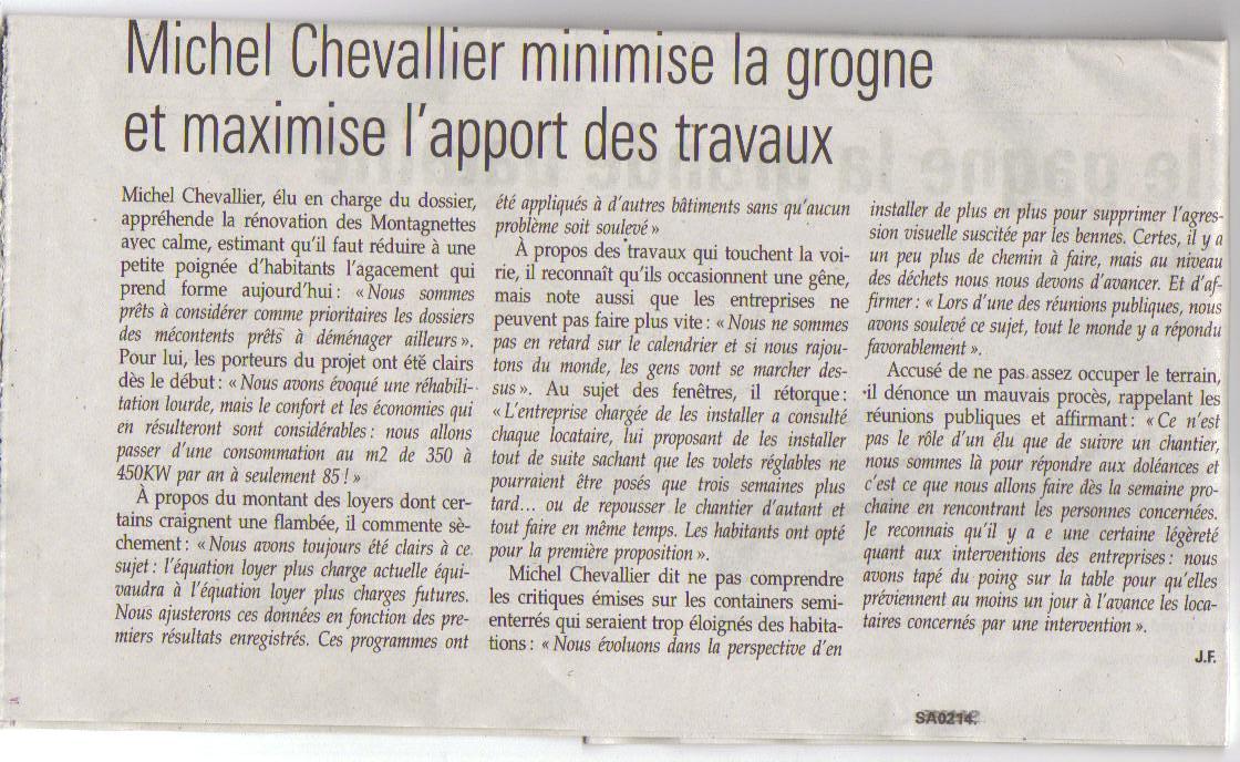 Journal la Savoie article sur la Montagnette du 16.04.15   001
