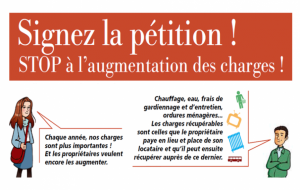 Pétition nationale, stop à l'augmentation des charges locatives !
