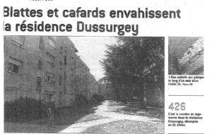 Résidence Dussurgey, Saint-Fons – Marre des blattes et des cafards !