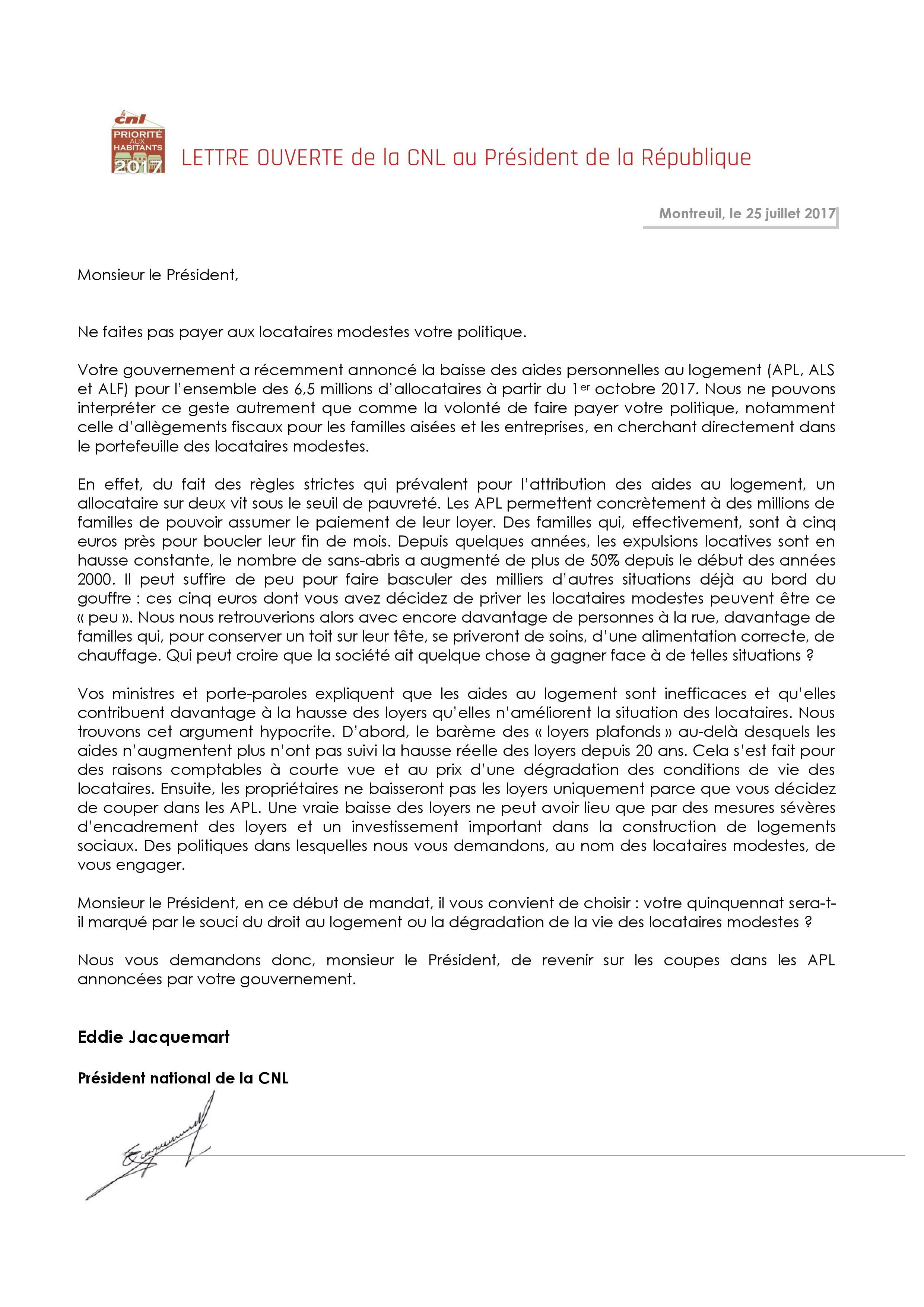 20170725_Lettre ouverte au Président - Baisse des APL-page-001