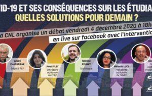 «Covid-19 et ses conséquences sur les étudiant.es, quelles solutions pour demain ?» – Débat Facebook live