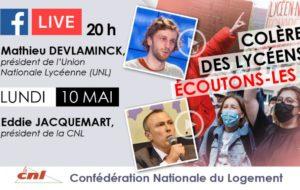 Débat CNL : Comprendre la mobilisation des lycéen.nes avec Mathieu Devlaminck, président de l'Union Nationale Lycéenne (UNL) et d'Eddie Jacquemart, Président national de la CNL